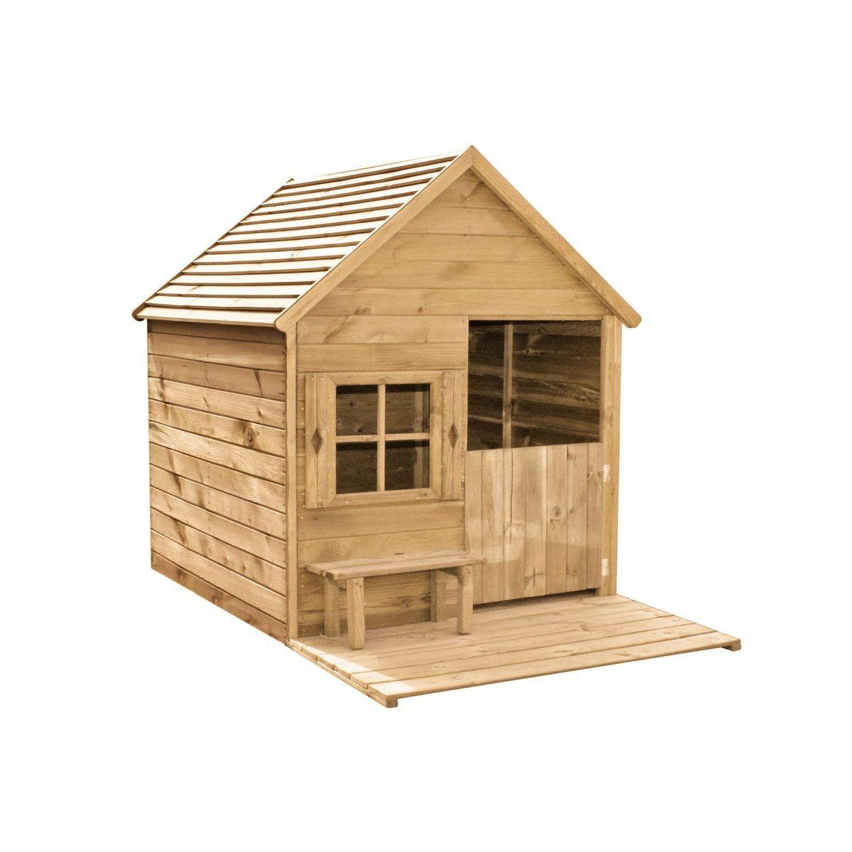Maisonnette - Cabane En Bois Traité Pour Enfants, Heidi En ... destiné Cabane De Jardin Pour Enfants