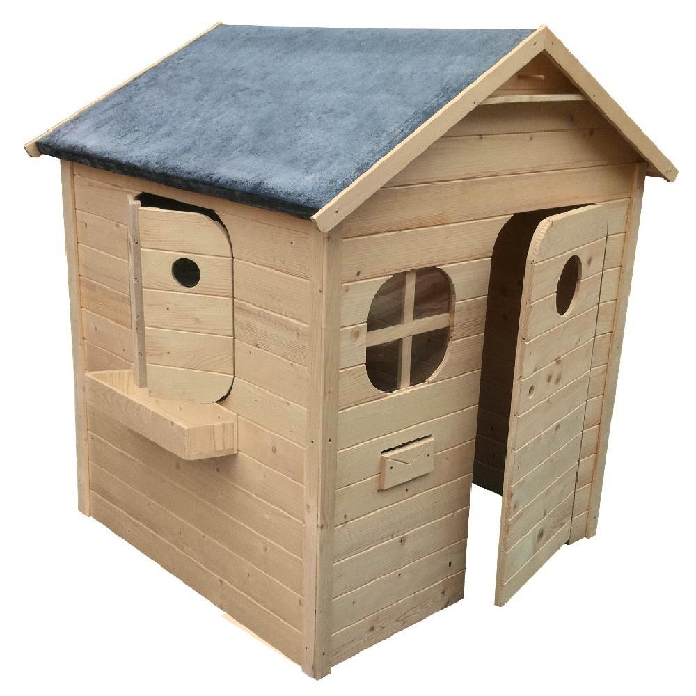 Maisonnette Châlet En Bois À Peindre Ou Lasurer avec Cabane De Jardin Enfant Bois