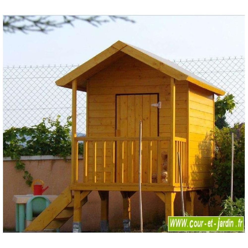 Maisonnette En Bois Sur Pilotis, Cabane De Jardin Enfants ... encequiconcerne Cabane De Jardin Enfant Bois