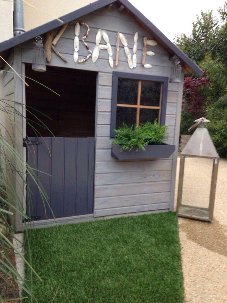 Maisonnette Enfant Bois | Cabane Jardin, Cabane Jardin ... à Cabane De Jardin Enfant Bois