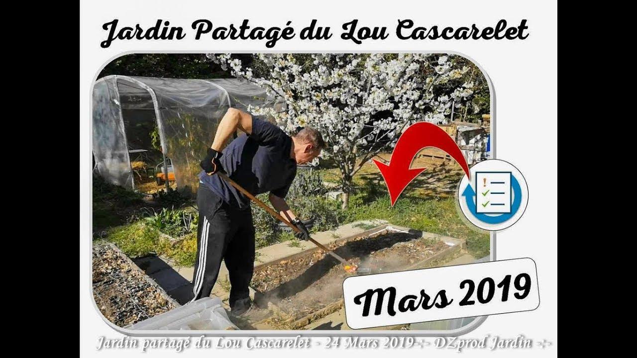 Mars 2019 Au Jardin Partagé Du Lou Cascarelet - Dzprod Jardin destiné Jarre De Jardin
