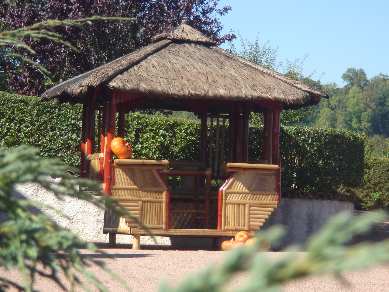 Meilleur Authentique 339A6 Ff731 Abri De Jardin En Bambou ... tout Tonnelle De Jardin Carrefour