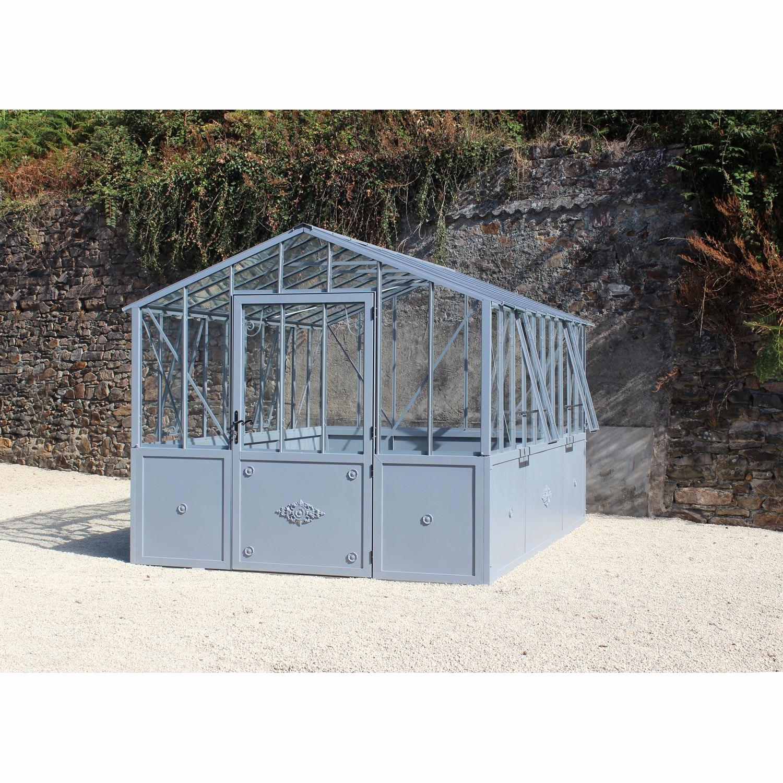Mini Serre En Verre Et Aluminiumserre Jardin Impressionnant ... tout Serre De Jardin Leroy Merlin