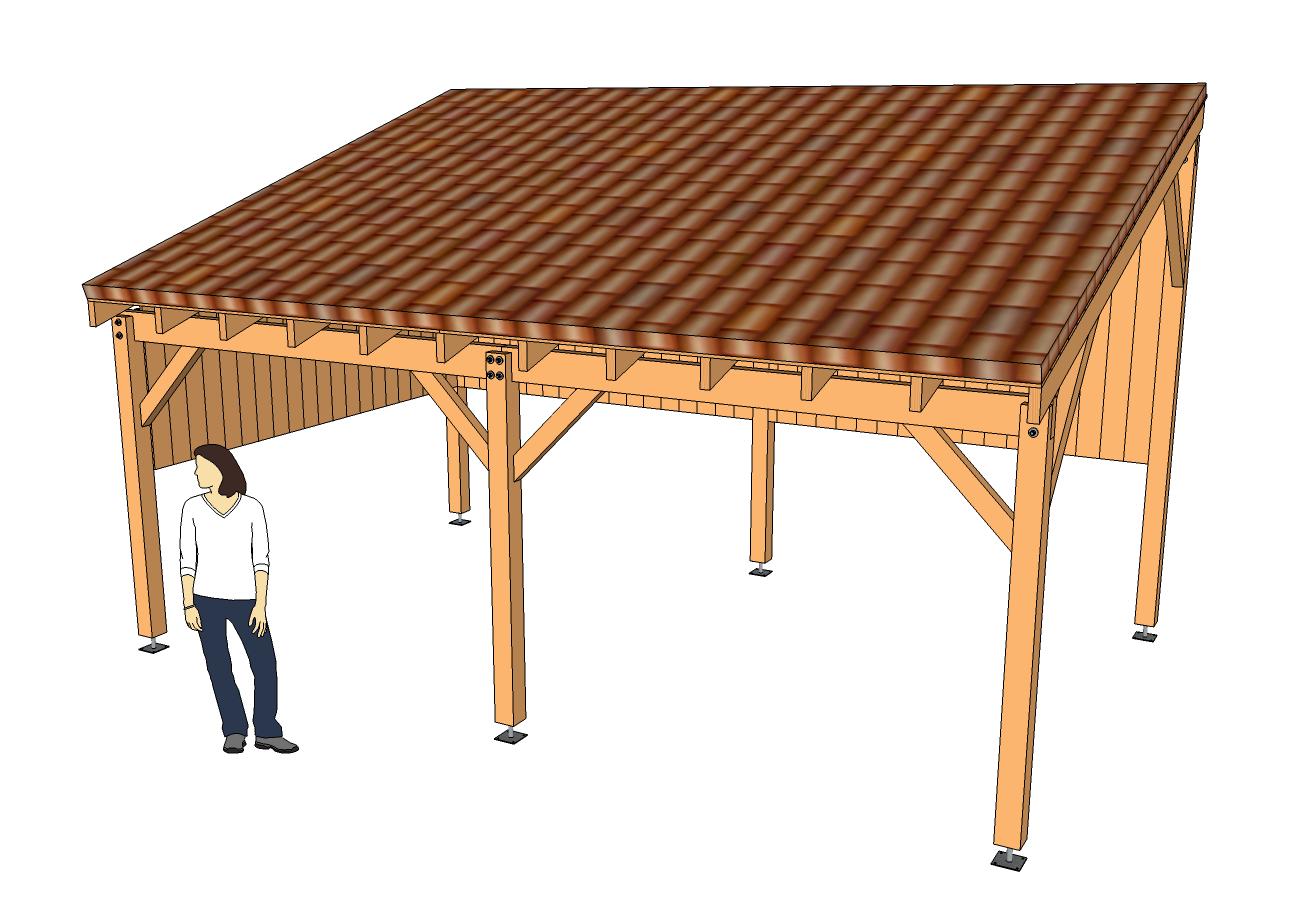 Modèle Eva - Guide De Construction Des Carport, Abri Voiture ... tout Fabriquer Un Abri De Jardin