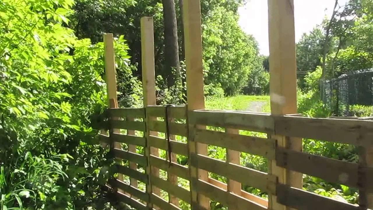 Mon Jardin Rona, Cloture En Palettes Avec S.lego encequiconcerne Petite Barriere Jardin