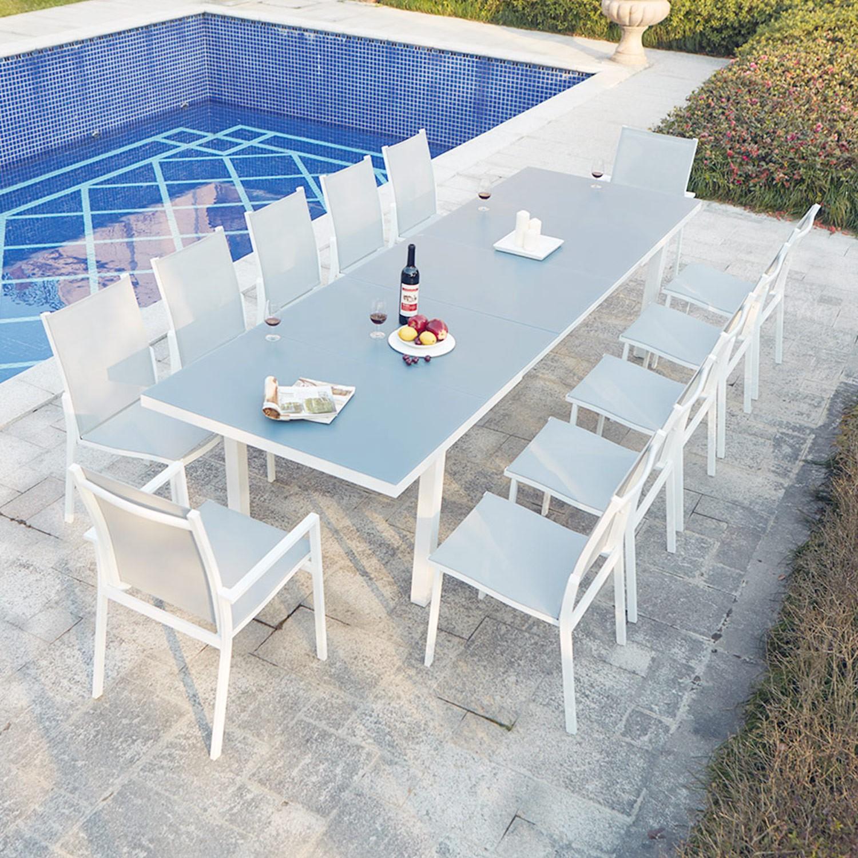 Moniga 12 avec Table De Jardin Extensible Pas Cher
