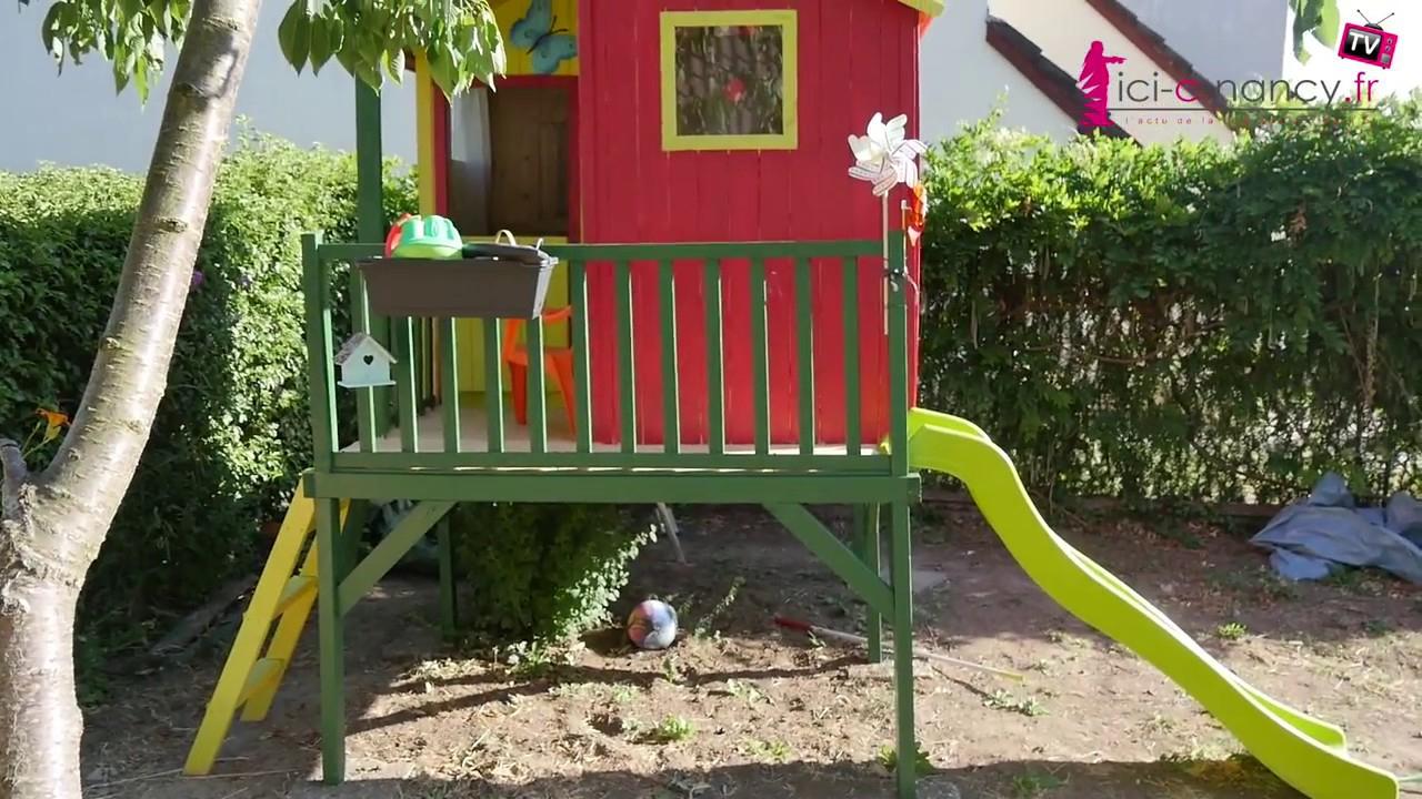 Montage Cabane De Jardin Pour Enfants Peinte Et Aménagée dedans Maison De Jardin Pour Enfant