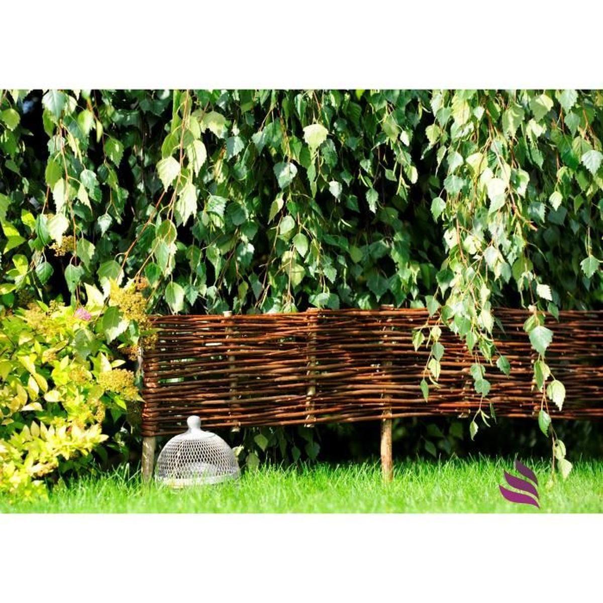 Nature Lounge Bordure En Osier Pour Plate-Bande Pour Plate ... tout Delimitation Jardin