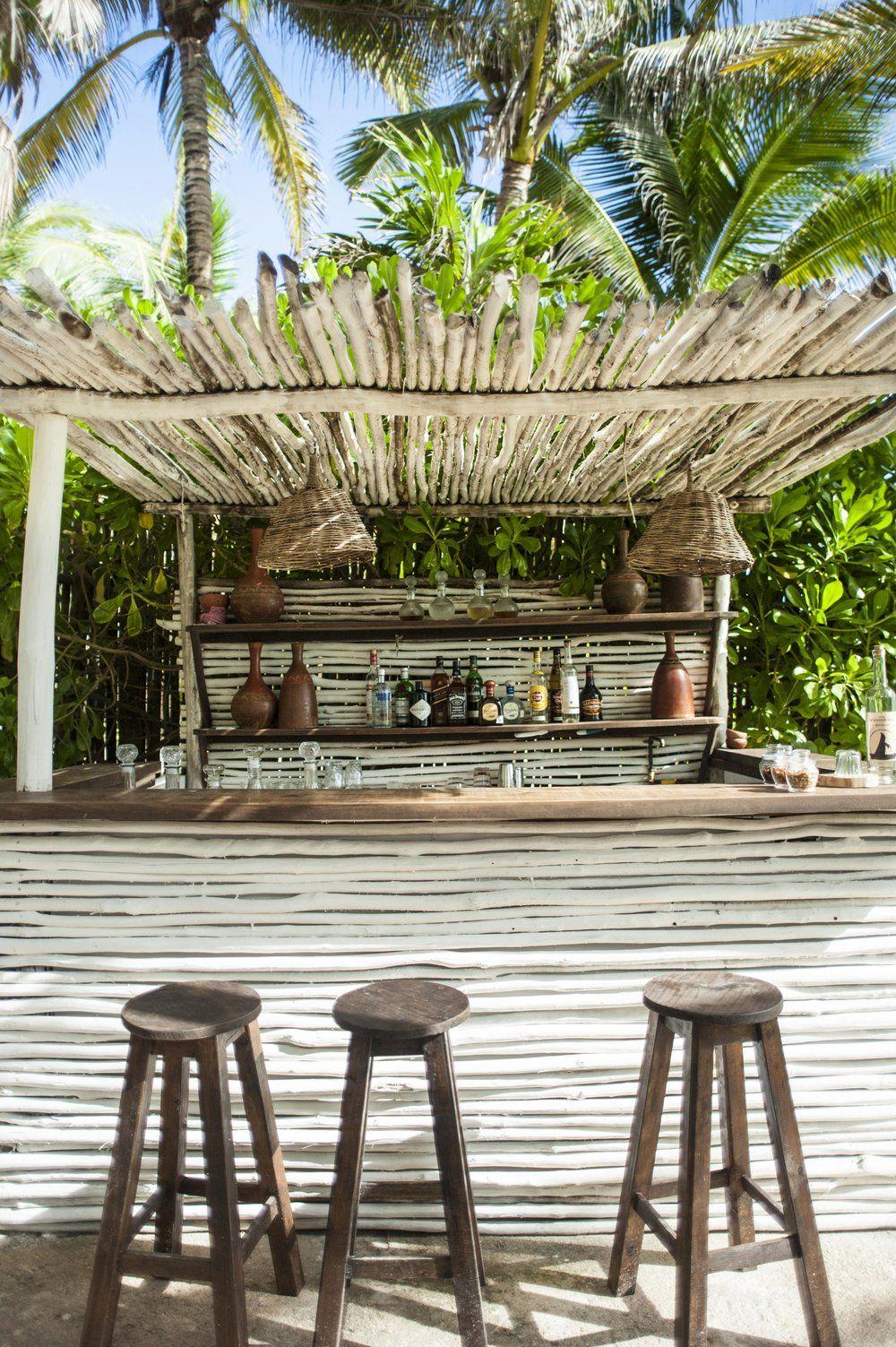 Nest, Tulum | Bar Exterieur, Bar Jardin Et Bars De Plage destiné Paillote Jardin