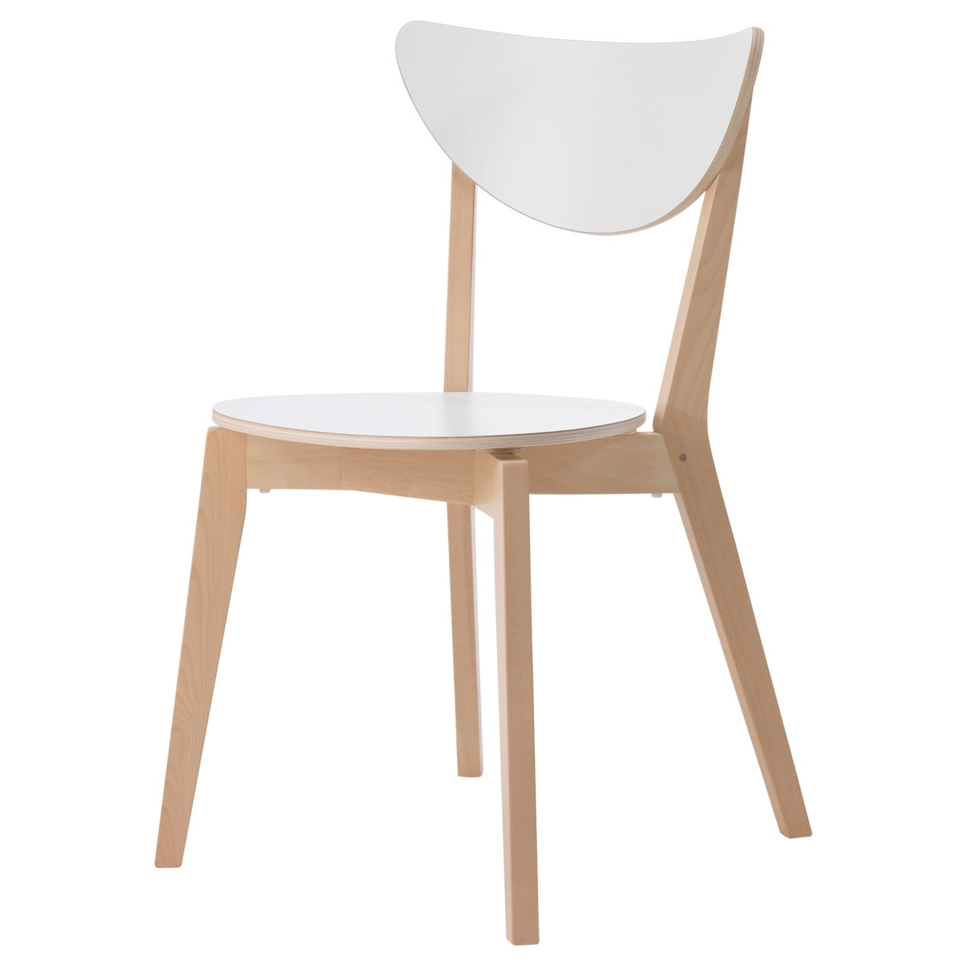 Nordmyra Chaise - Blanc, Bouleau encequiconcerne Mobilier De Jardin Ikea