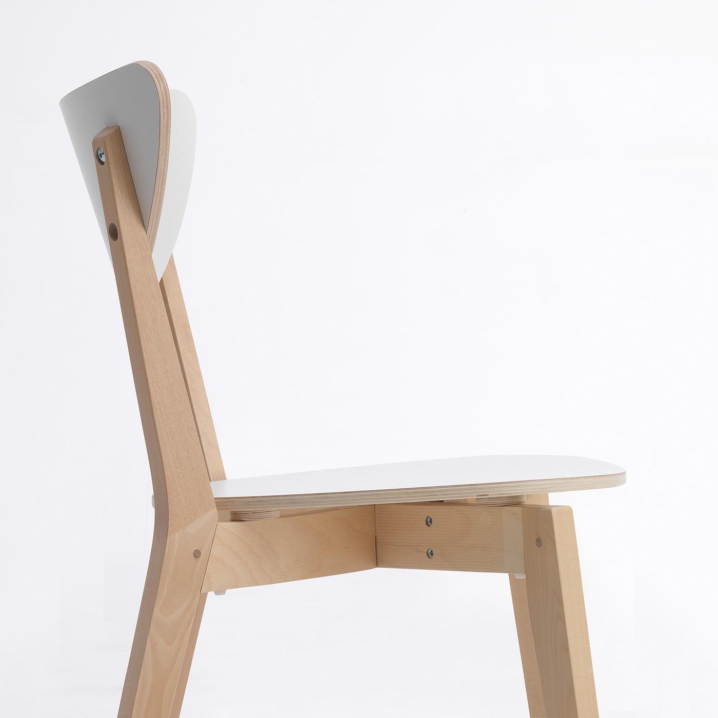Nordmyra Chaise - Blanc, Bouleau pour Mobilier De Jardin Ikea