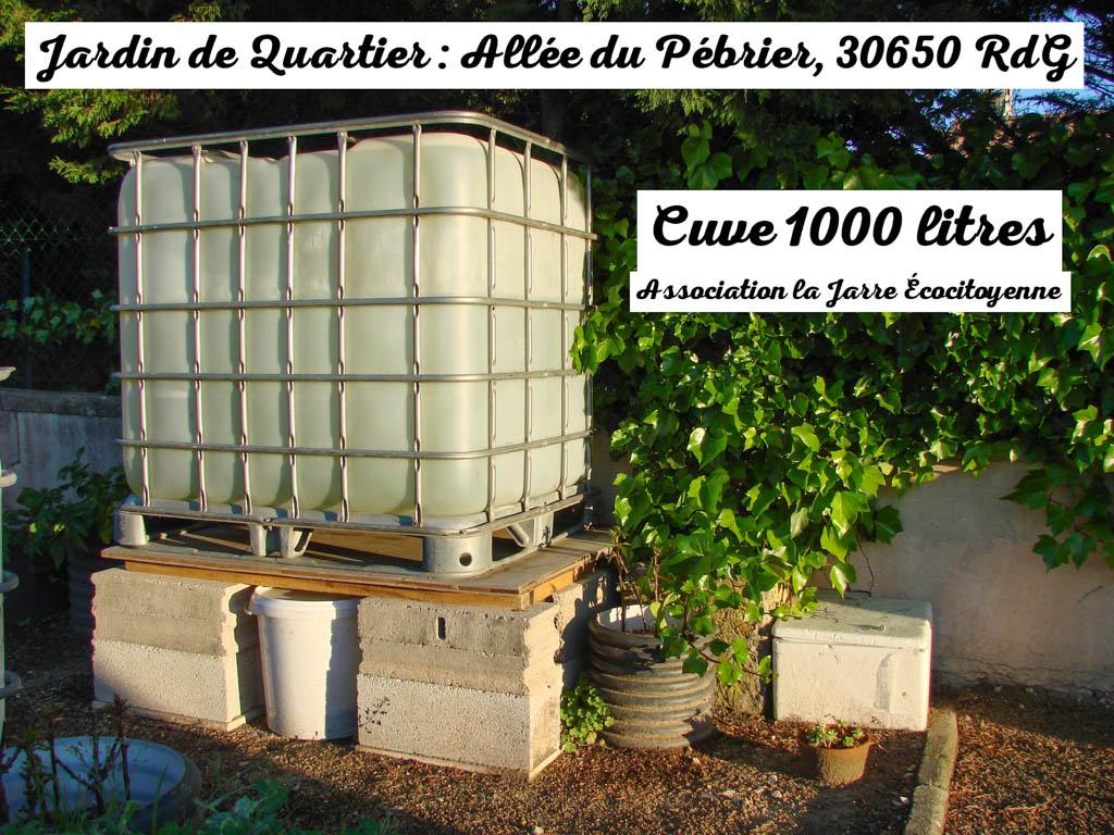 Nouvelle Cuve De 1000 Litres – Merci Éric ! | La Jarre ... encequiconcerne Jarre De Jardin