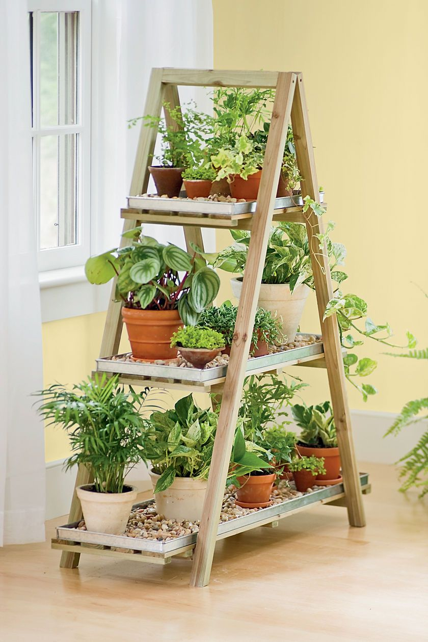 Old Ladders Repurposed As Home Decor | Bricolage De Jardin ... avec Escabeau Jardin