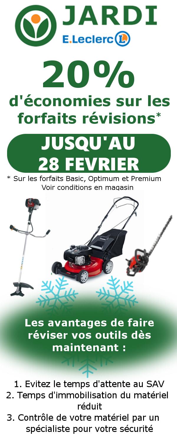 Opération Entretien Matériel De Jardinage - Jardi Leclerc ... encequiconcerne Tondeuse Leclerc Jardin