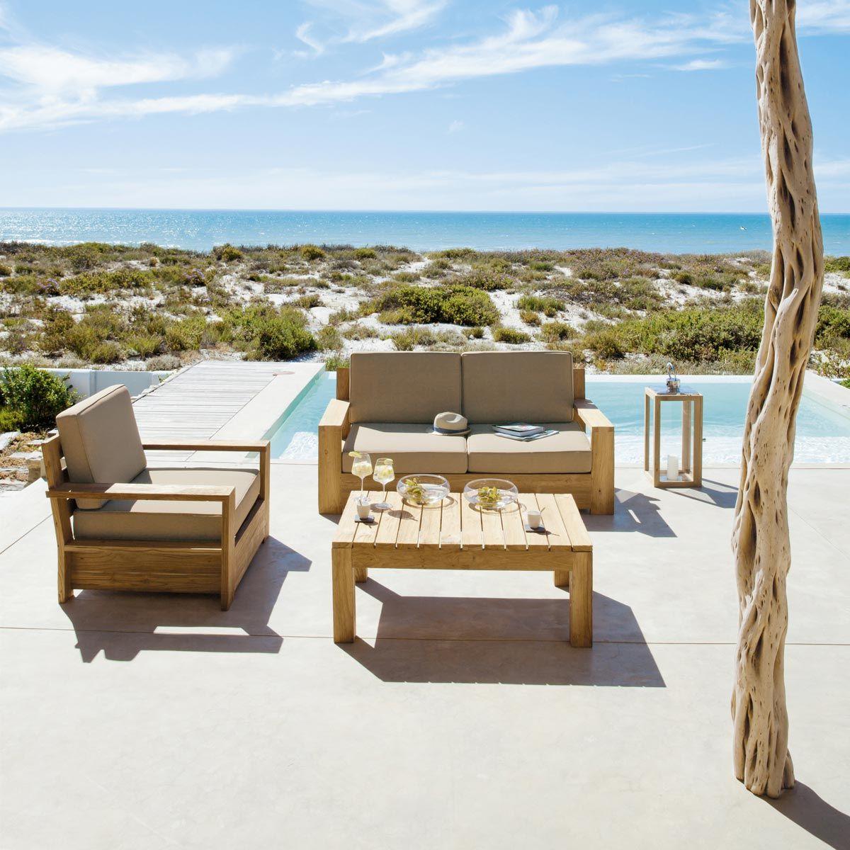 Outdoor Furniture | Teak Garden Bench, Outdoor Furniture ... à Salon De Jardin Maison Du Monde