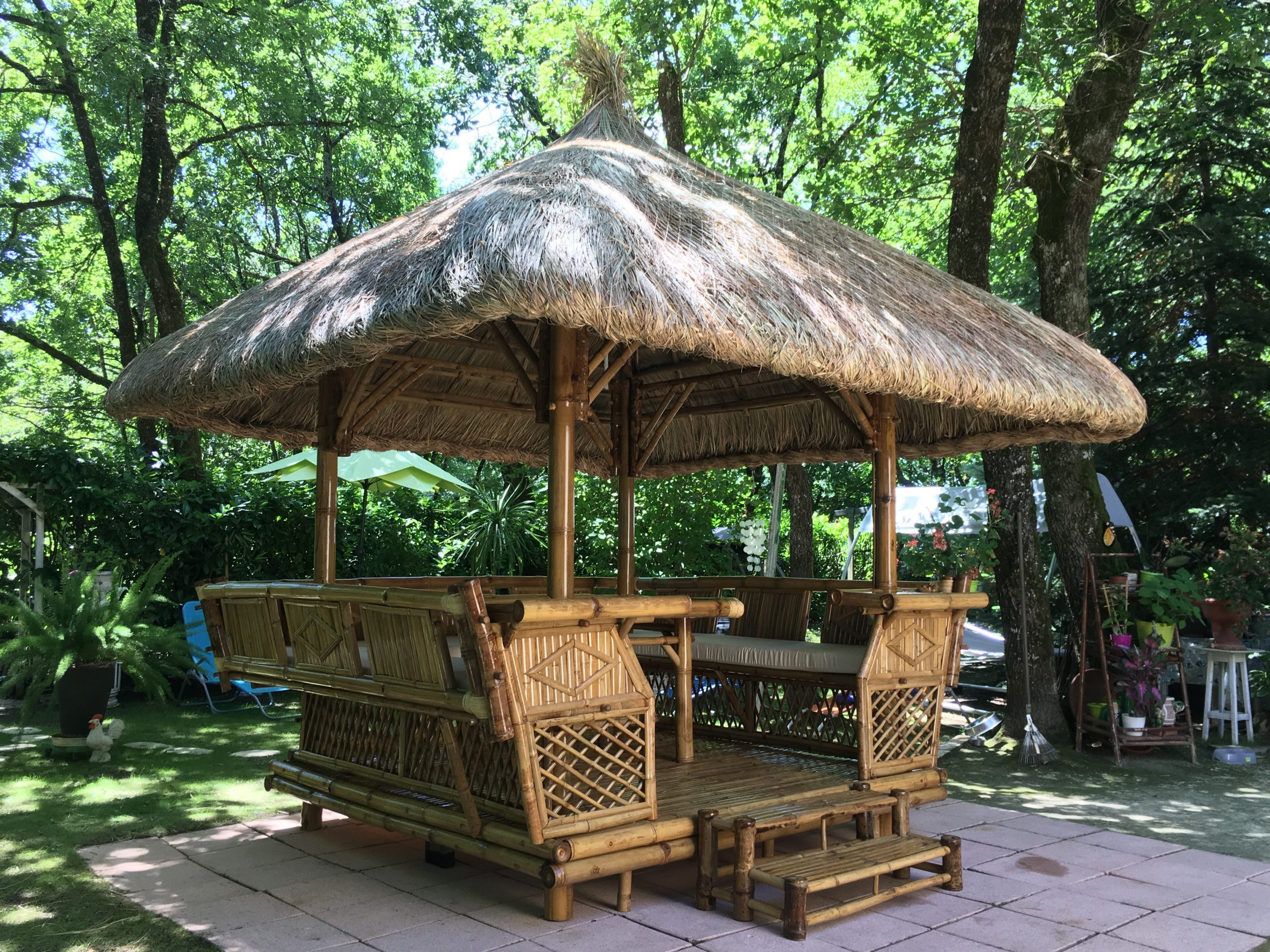 Paillote Chiang Maï - Tendance Bambou pour Paillote Jardin