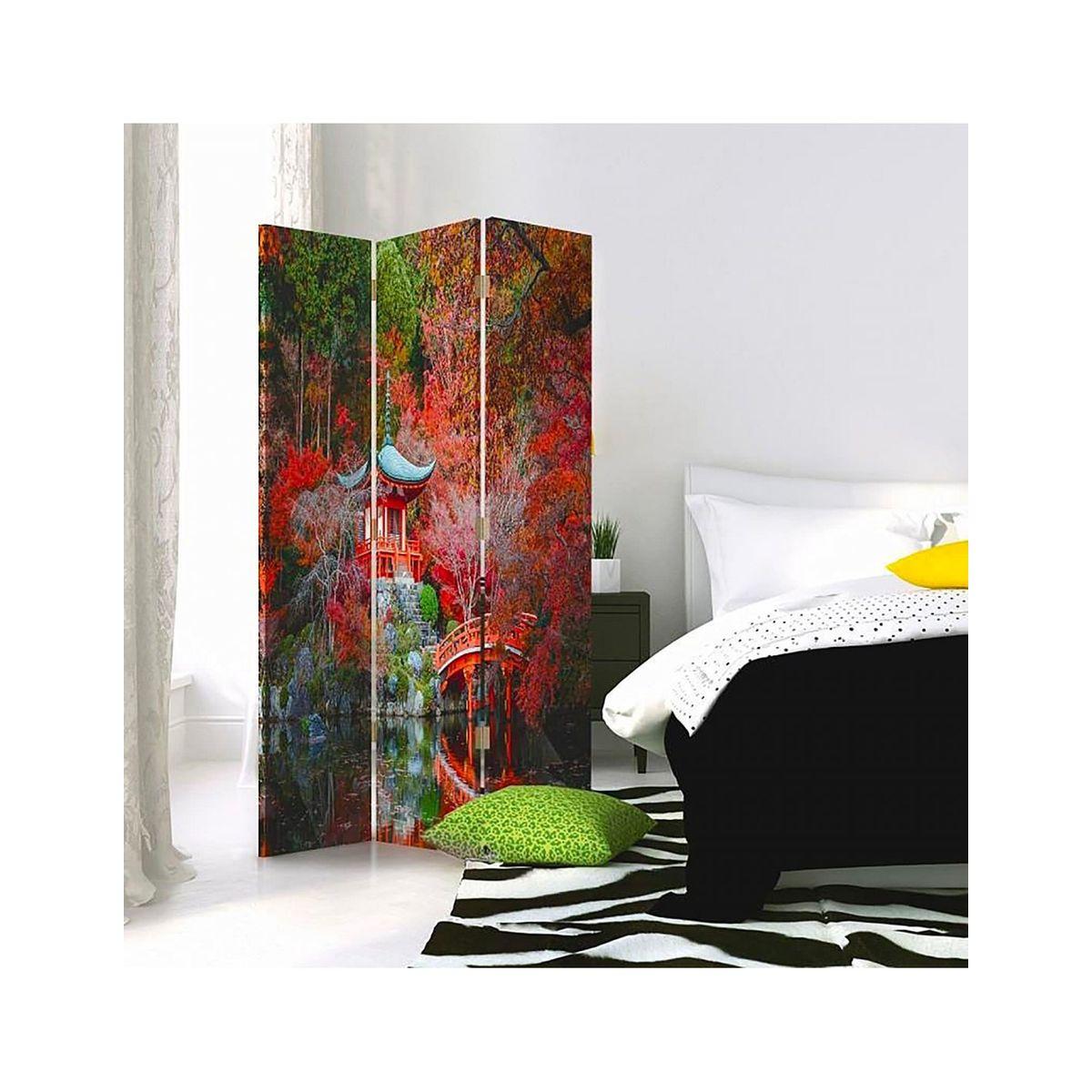 Paravent 3 Volets Jardin De Style Japonais 1 Coté - Taille ... encequiconcerne Paravent De Jardin