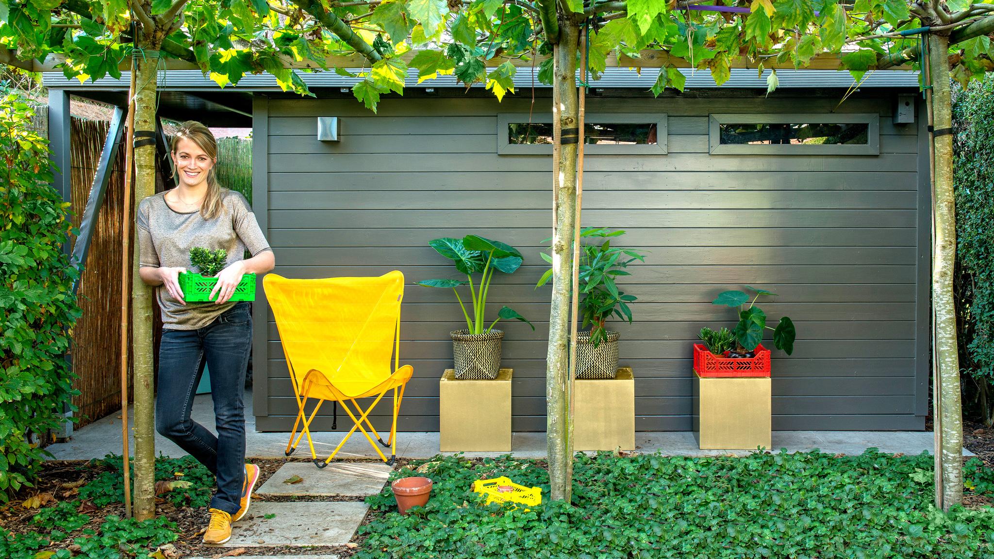 Peint En Un Weekend : Abri De Jardin, Mur, Porte D'entrée ... encequiconcerne Peinture Abri De Jardin