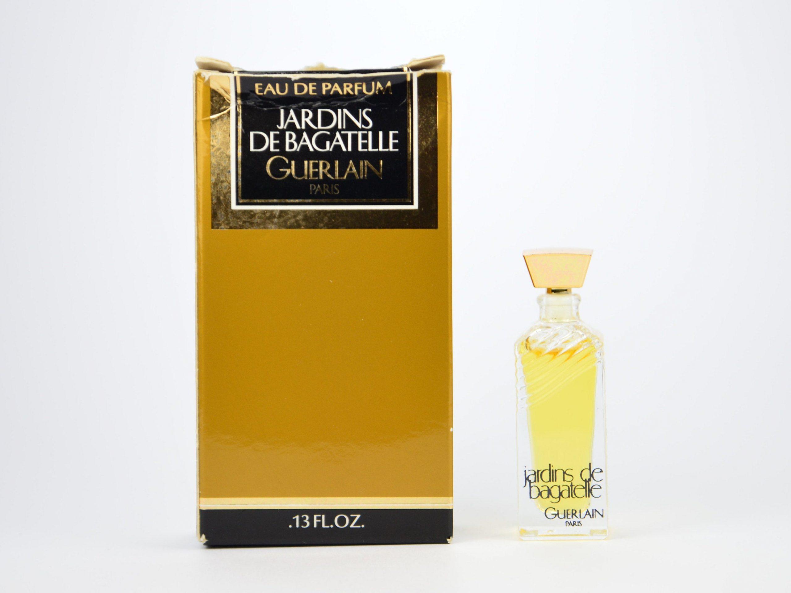 Perfume Vintage Mini Eau De Parfum Jardins De Bagatelle Guerlain Paris 4 Ml  0.13 Fl. Oz. Miniature Ladies pour Jardin De Bagatelle Guerlain