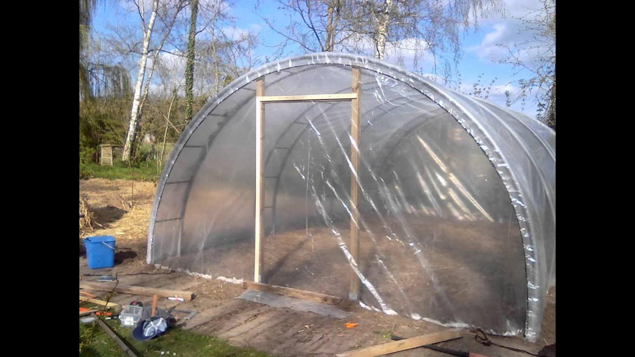 Permaculture - Construction D'une Serre De 26 M2 Pour 250€ concernant Serre De Jardin D Occasion