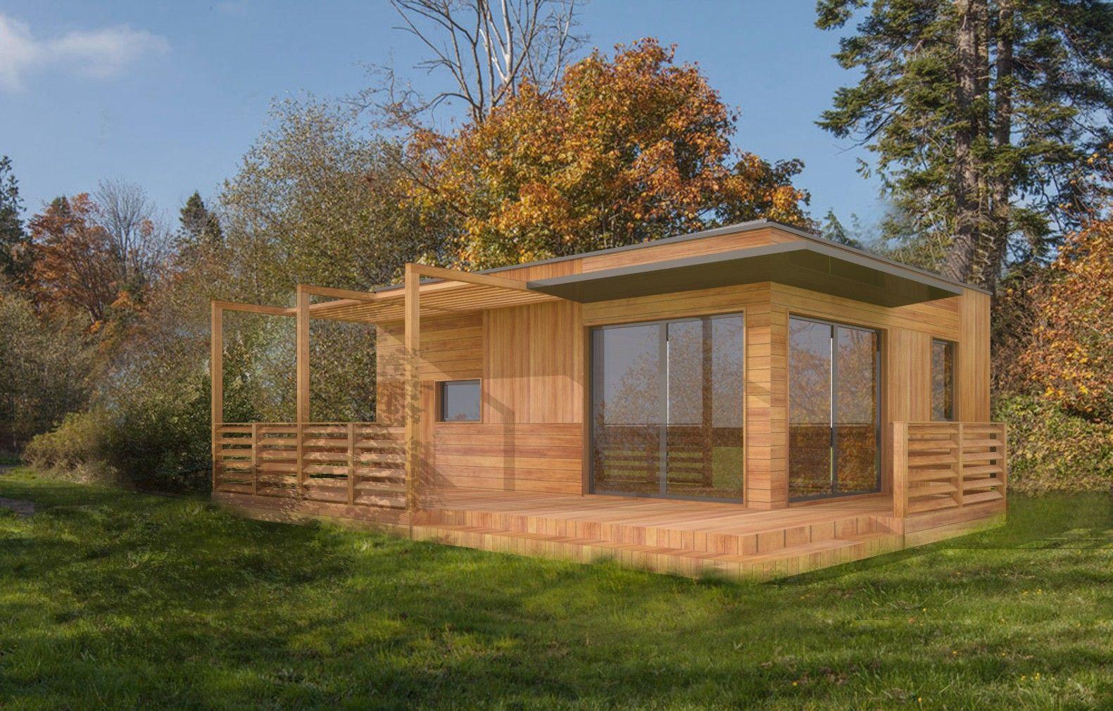 Plan Studio 35M2 Clé En Main | Chalet En Bois Habitable ... intérieur Abri De Jardin 30M2