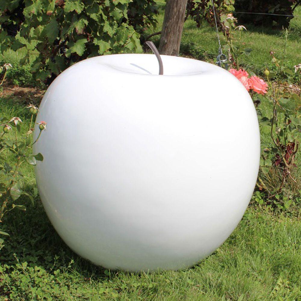 Pomme Décorative Xxl Ø77 Cm Résine Blanc serapportantà Grosse Pierre Decoration Jardin