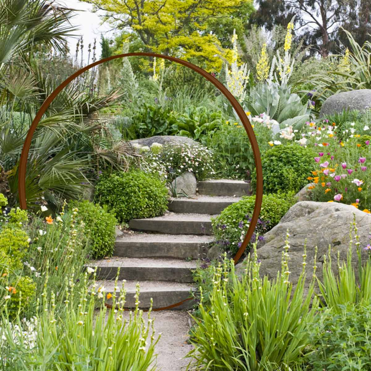 Porte De Lune En Acier Rouillé Diam. 1.9M tout Decoration De Jardin A Faire Soi Meme