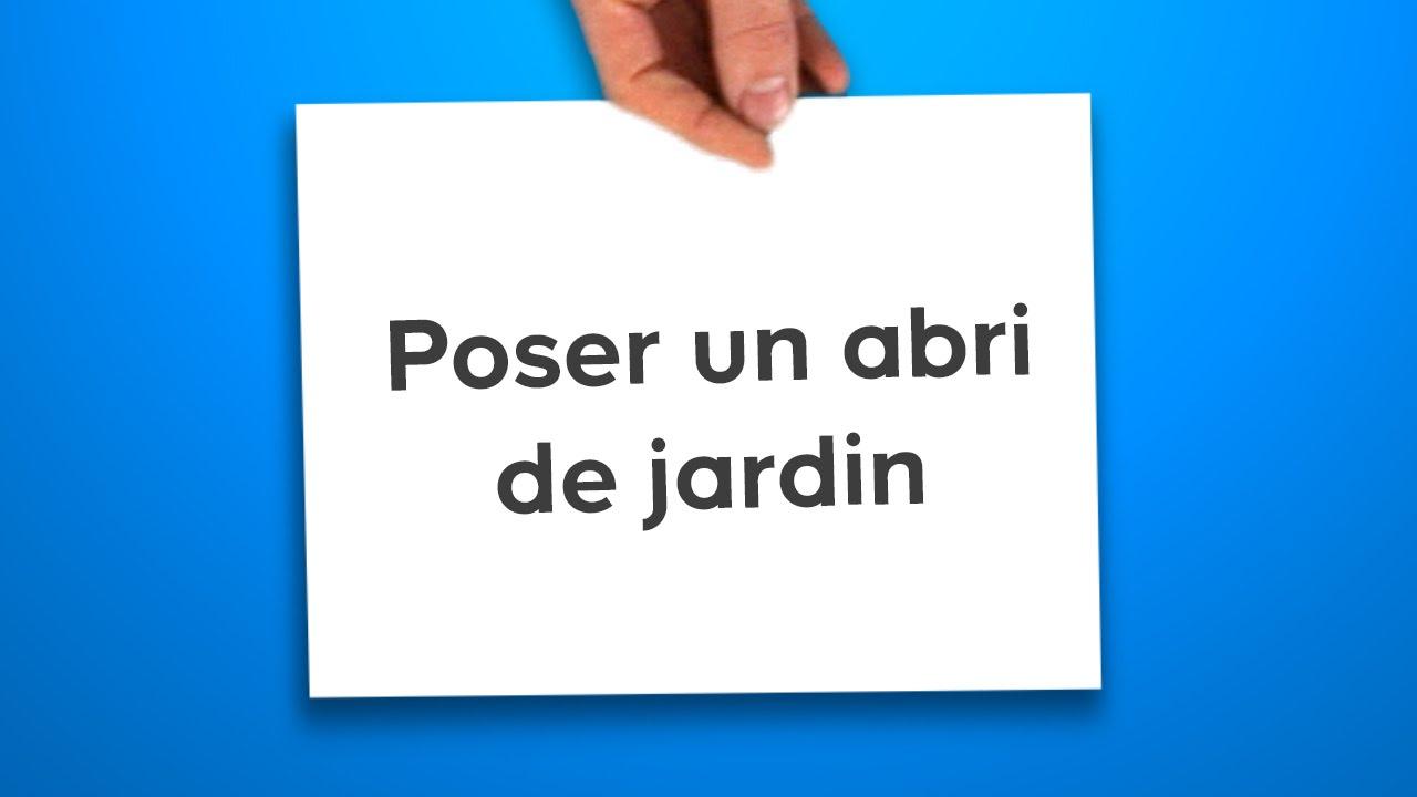Poser Un Abri De Jardin (Castorama) destiné Toiture Abri De Jardin Castorama