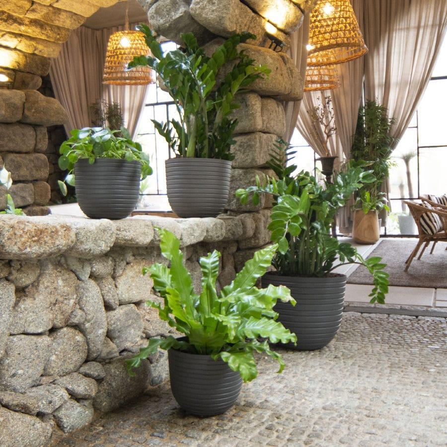 Pot De Jardin En Polypropylène / Rond - Havana Horizon ... avec Salon De Jardin Polypropylène