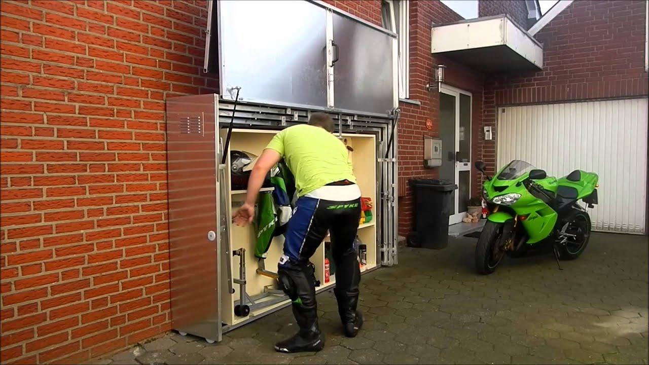 Pratique : Un Garage Moto Télescopique En Métal tout Abri Moto Jardin