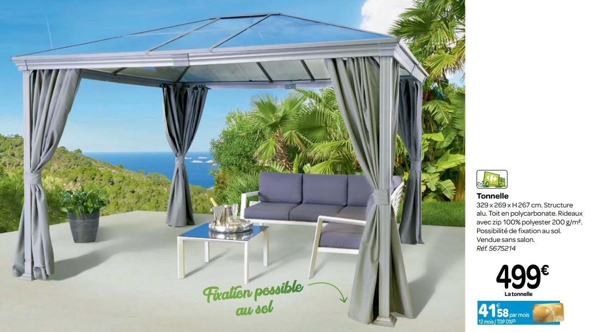 Promotion Carrefour: Tonnelle - Produit Maison - Carrefour ... pour Tonnelle De Jardin Carrefour
