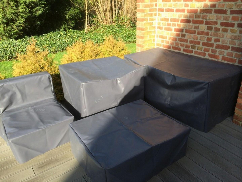 Protecteurs Anti-Uv Imperméables De Patio De Tissu De 420D ... avec Bache Pour Salon De Jardin