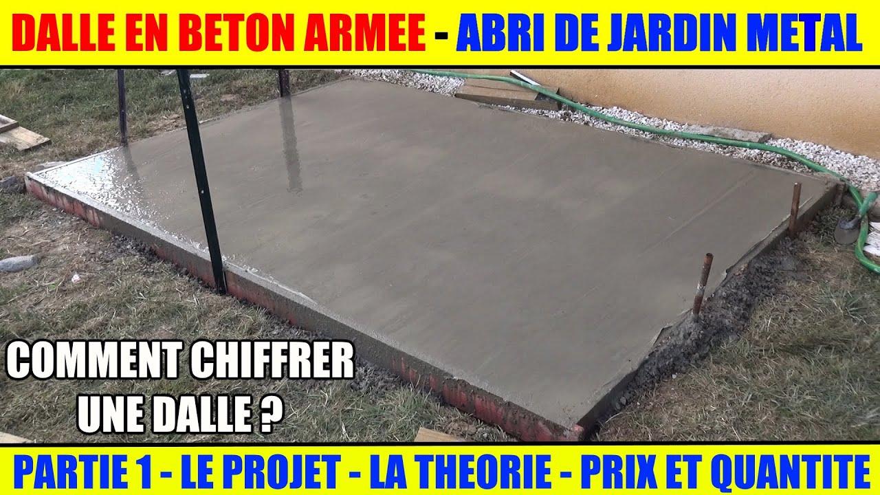 Réaliser Une Dalle Béton Armée Pour Abri De Jardin Métal Arrow intérieur Fondation Abri De Jardin