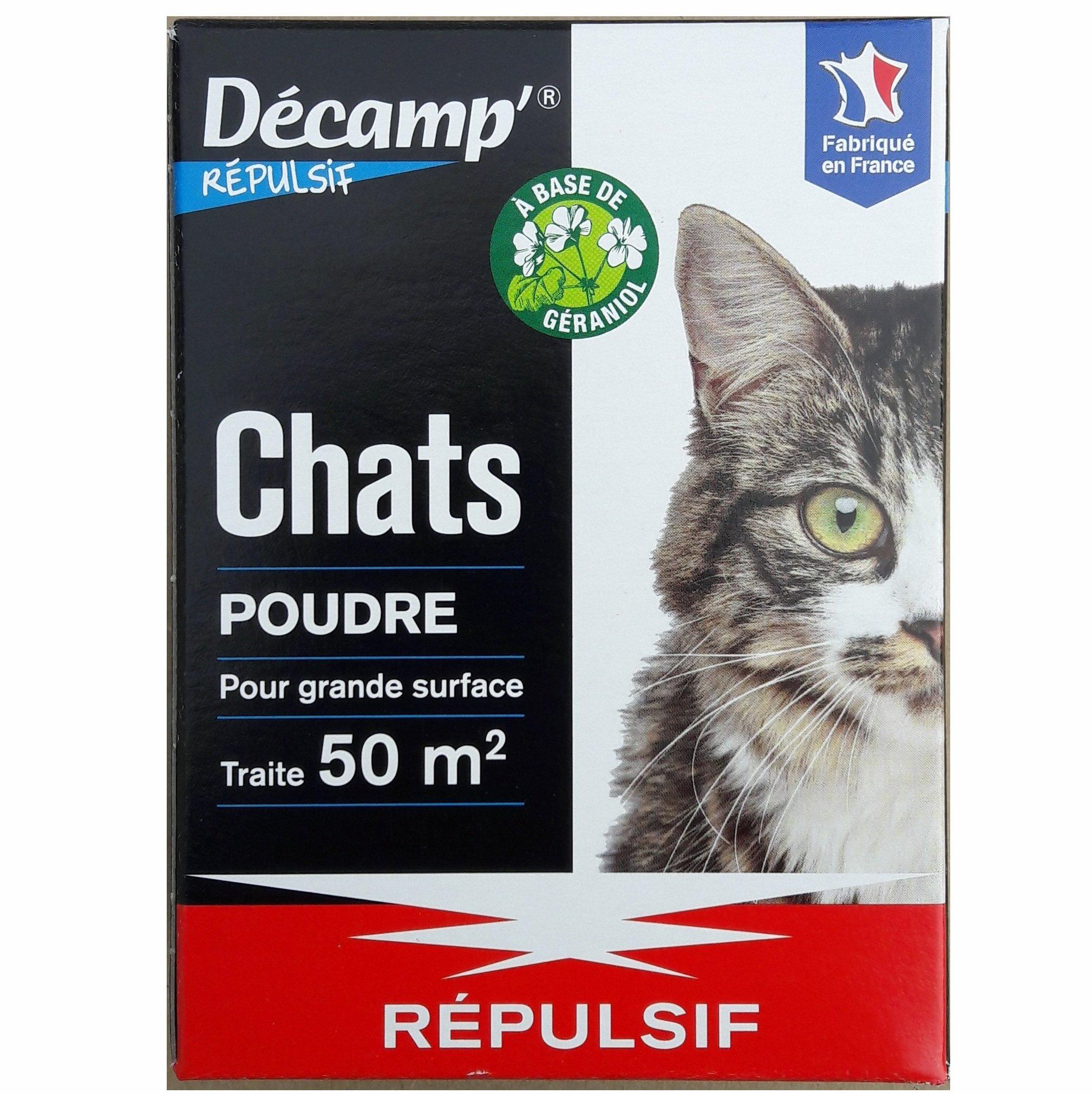 Répulsif Chat Poudre Décamp' 200 Grammes Pour 50 M² encequiconcerne Repousse Chat Jardin