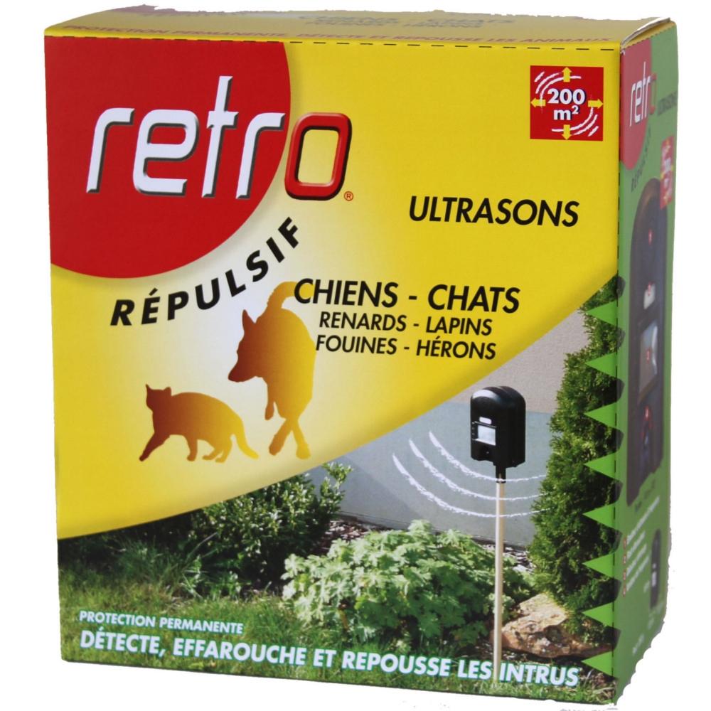 Répulsif Ultrasons Chien & Chat Retro Avec Flash Effaroucheur destiné Repousse Chat Jardin