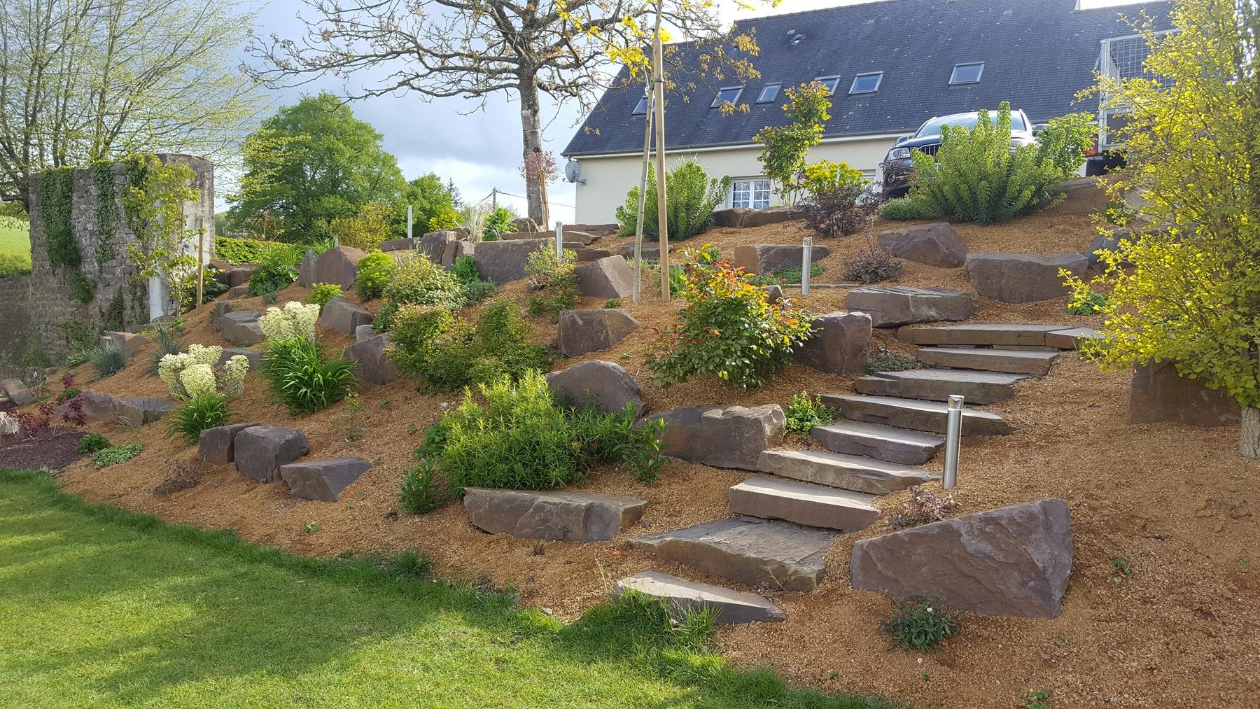 Rocaille De Jardin - Plante De Rocaille | Paysages Conseil concernant Exemple D Aménagement De Jardin
