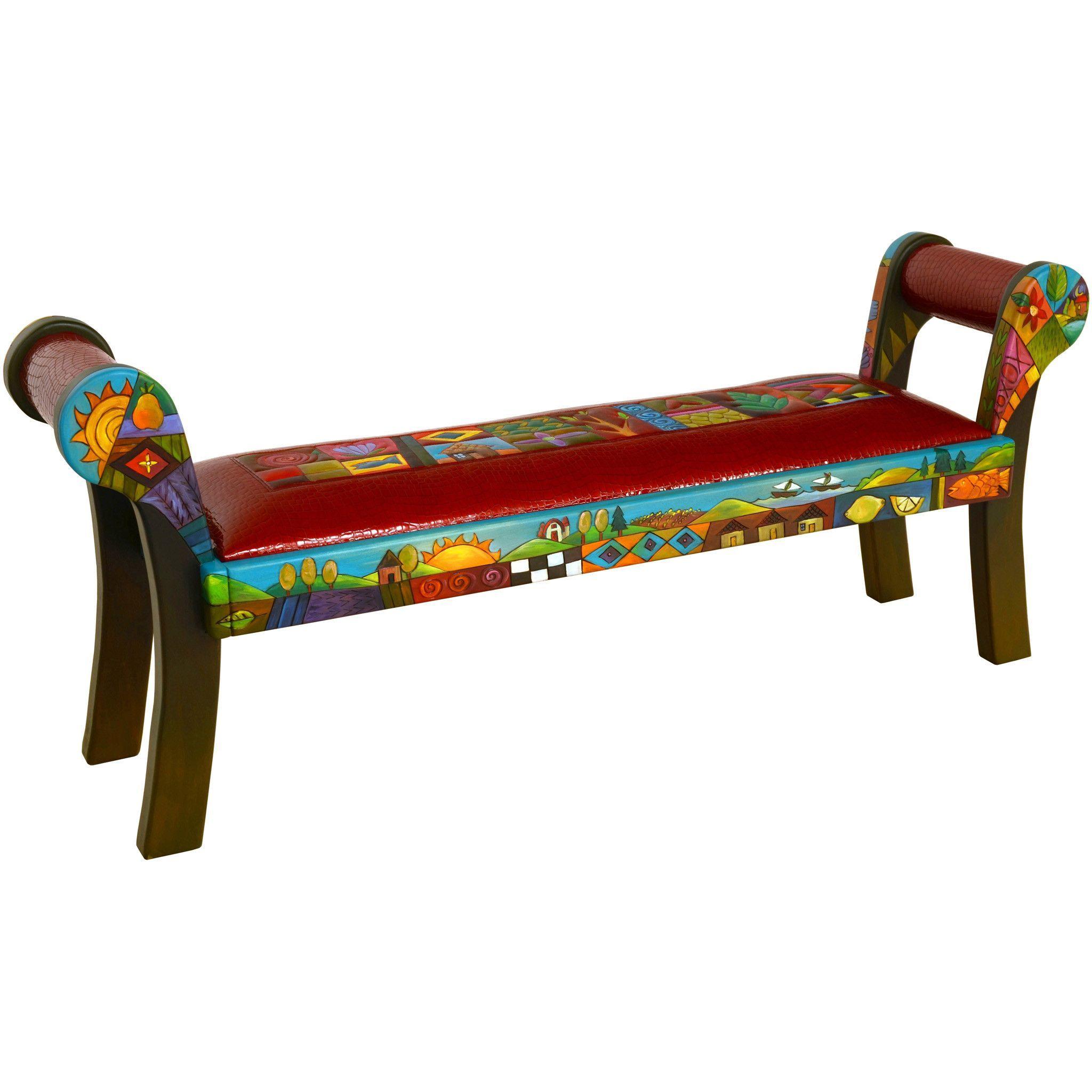 Roll Arm Bench By Sticks Ben050-D701026 | Mobilier De Salon ... dedans Salon De Jardin D Occasion