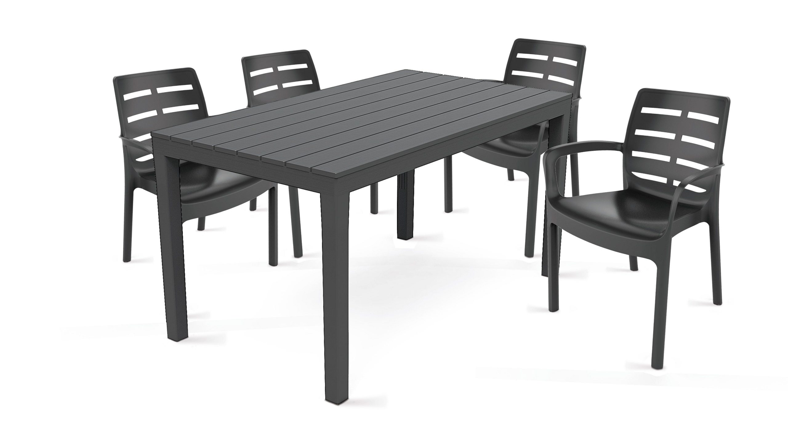 Salon De Jardin 4 Places En Plastique concernant Table Et Chaises De Jardin Pas Cher