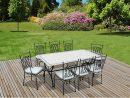 Salon De Jardin Alice S Garden Table 200Cm 8 Places - Salon ... tout Salon De Jardin En Fer Forgé