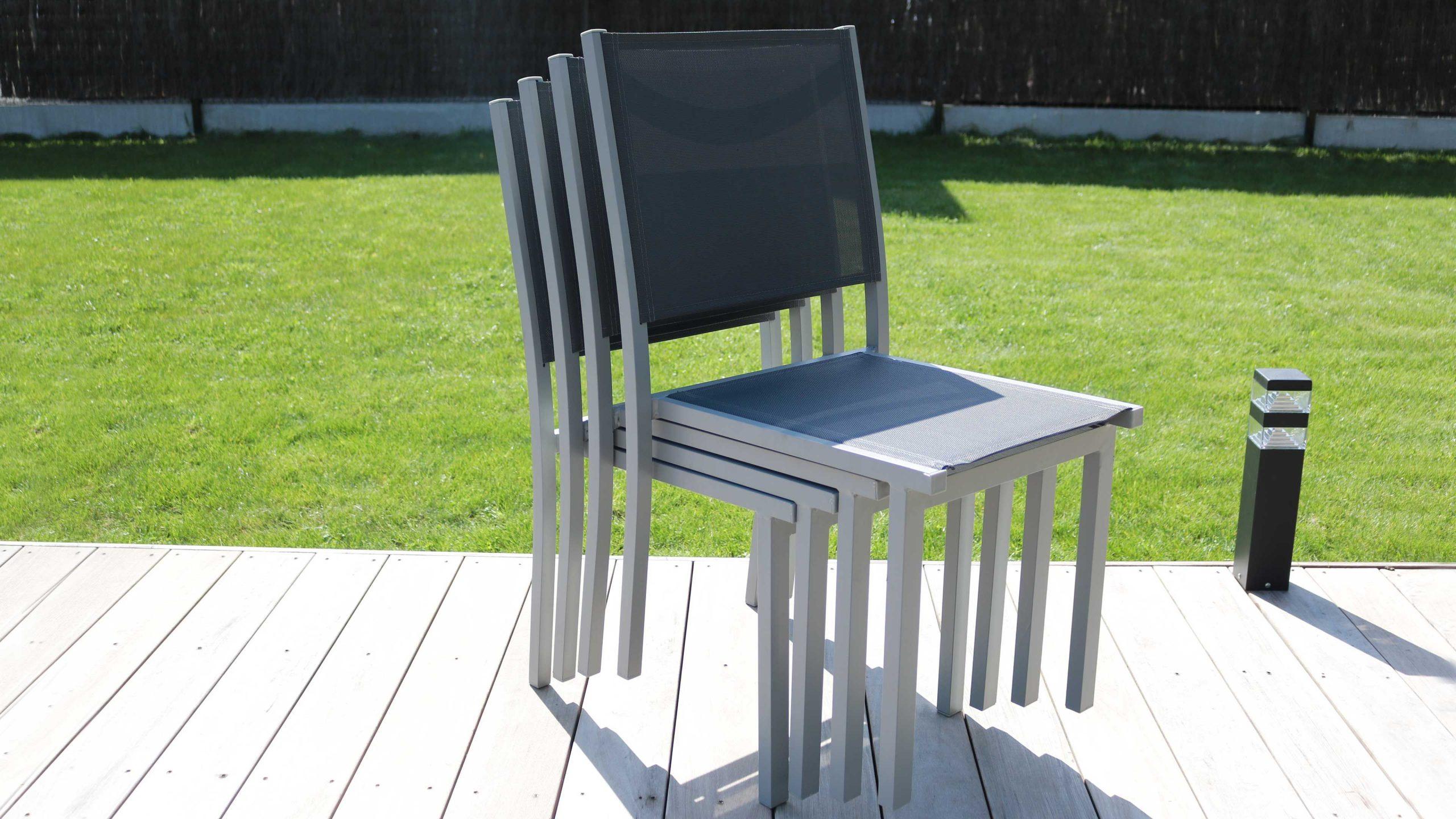 Salon De Jardin Aluminium Table De Jardin 6 Places à Ensemble Table Et Chaise De Jardin Pas Cher