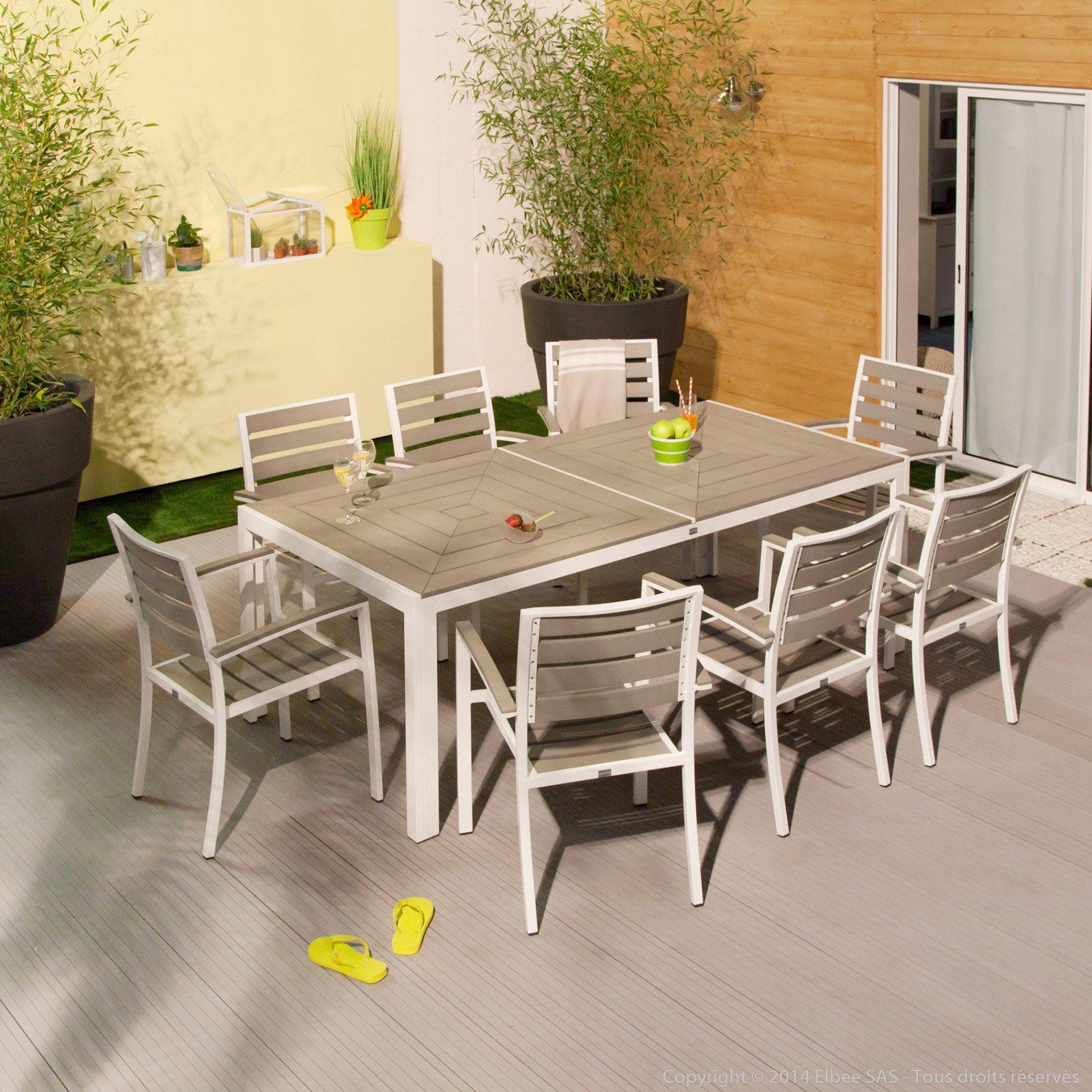 Salon De Jardin Blanc Plastique Unique Table Terrasse Pas ... intérieur Salon De Jardin En Plastique Pas Cher