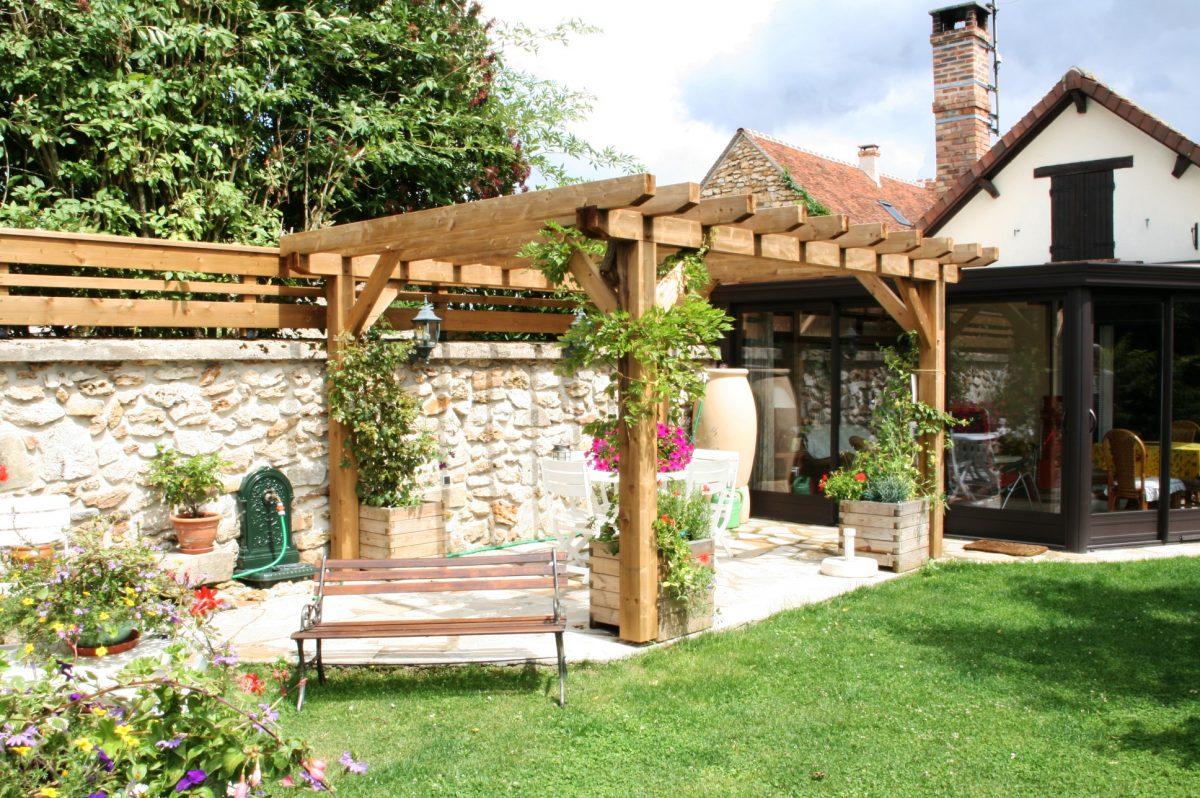 Salon De Jardin Bois Pas Cher Schème - Idees Conception Jardin