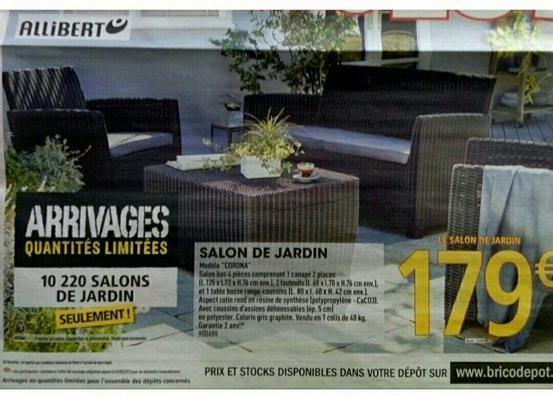 Salon De Jardin California Brico Depot Luxe Salon De Jardin ... dedans Salon De Jardin Allibert Brico Depot