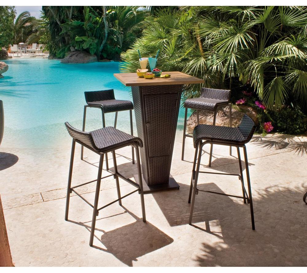Salon De Jardin Carrefour - Set Bar Table + 4 Chaises Prix ... concernant Salon De Jardin Resine Carrefour