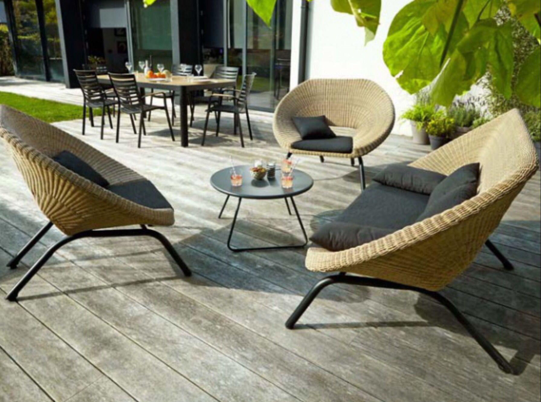 Salon De Jardin De Claudette Noiseux Du Tableau :: Patio ... pour Table De Jardin Intermarché