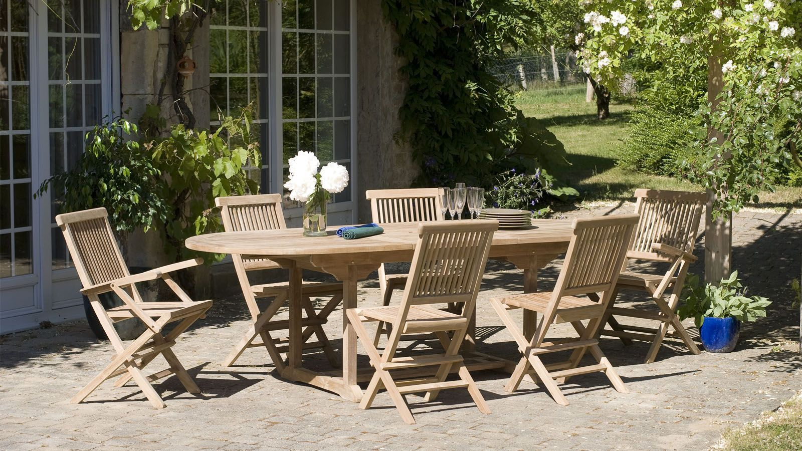 Salon De Jardin En Teck 6 Places - Collection Copa Cabana ... pour Salon De Jardin En Teck Pas Cher