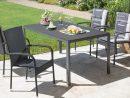 Salon De Jardin «Nevada/palermo» (90X150, 4 Chaises, Noir) pour Salon De Jardin Nevada