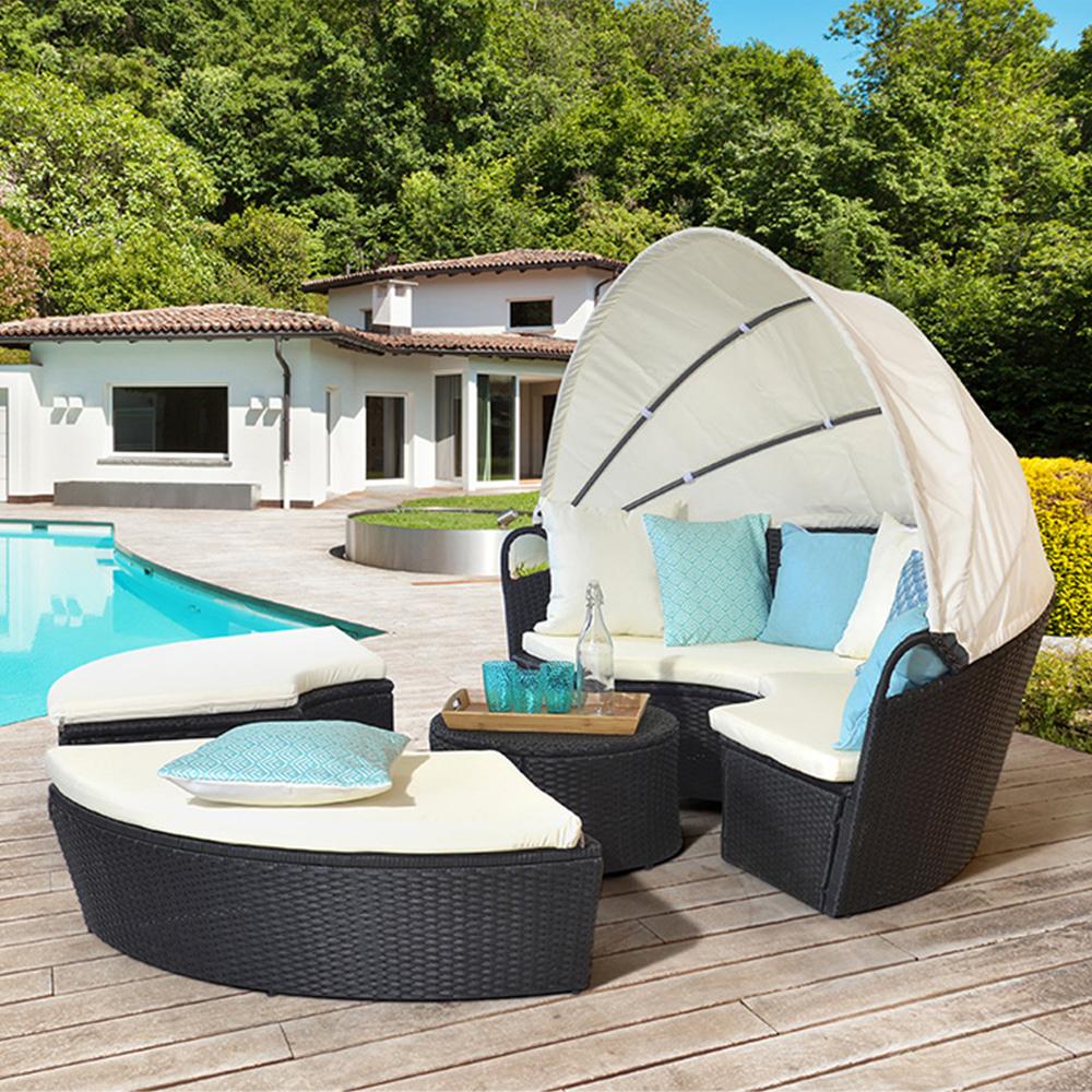 Salon De Jardin Rond Des Idées - Idees Conception Jardin intérieur Lit De Jardin Rond