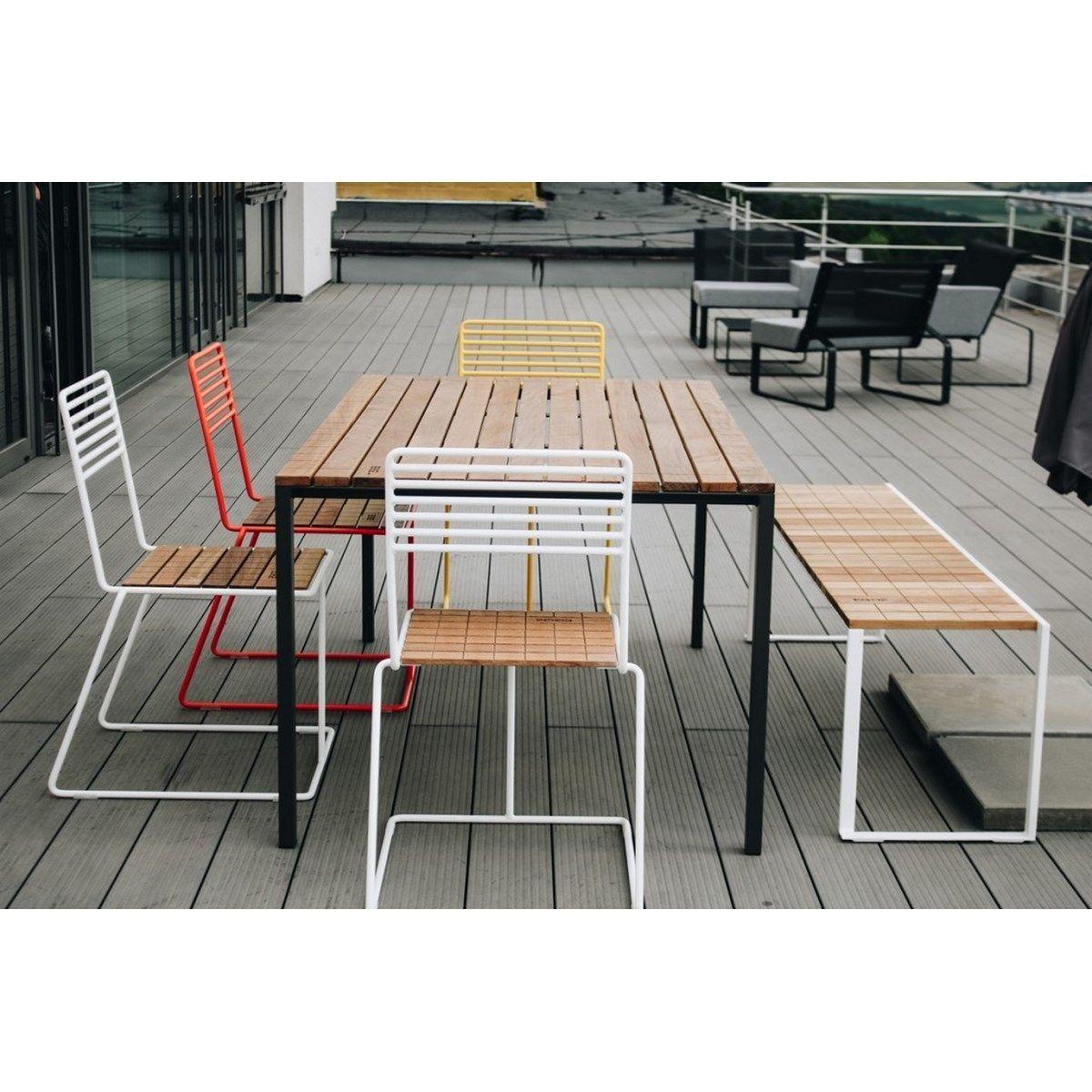 Salon De Jardin Table Rectangulaire Cora Banc Bistrot Et 4 ... tout Salon De Jardin Cora