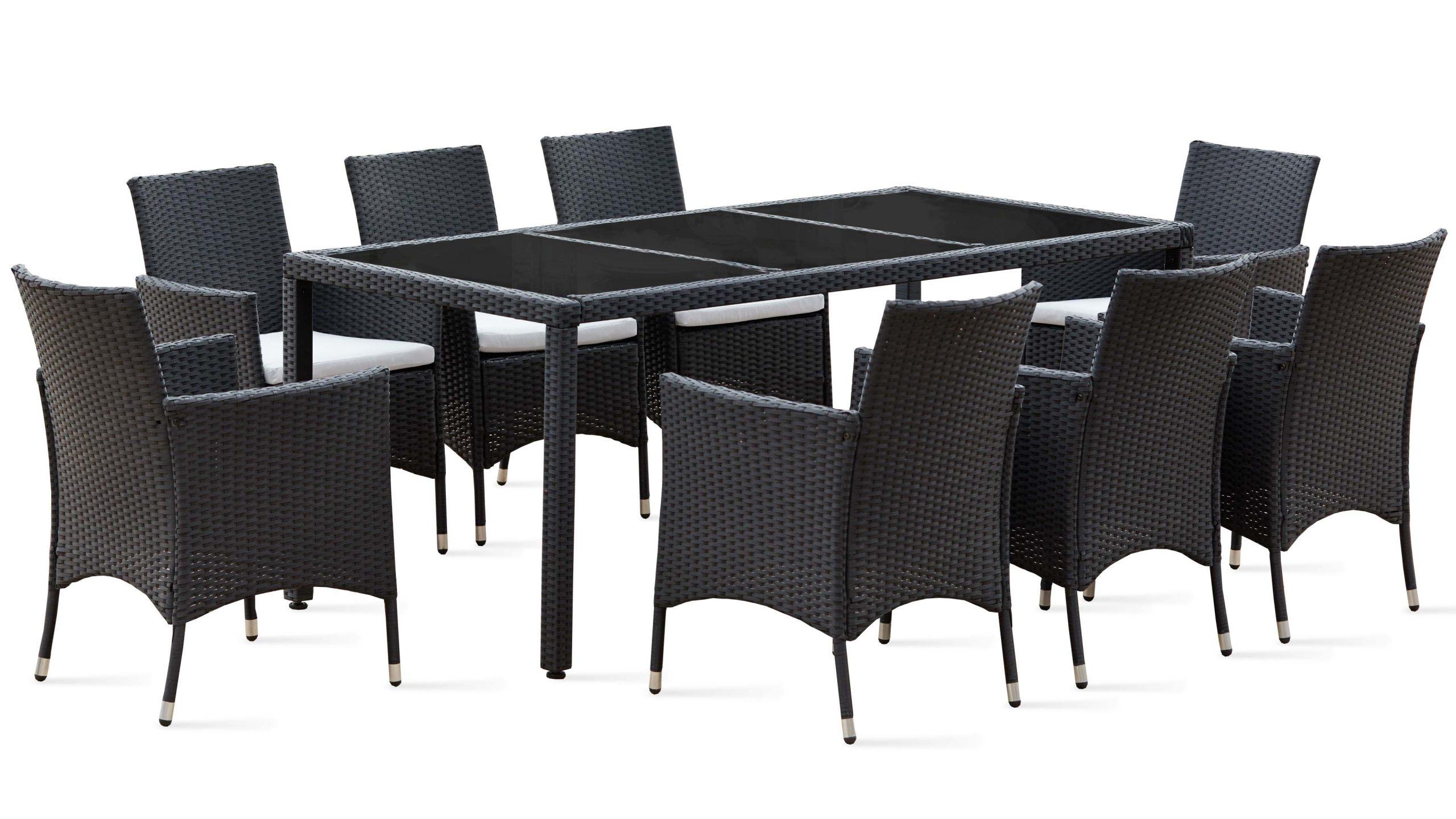 Salon De Jardin Table Résine Tressée 8 Fauteuils intérieur Table De Jardin En Resine Tressée
